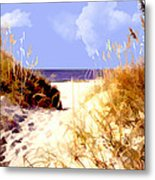 A View Through The Dunes To The Ocean Metal Print