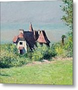 A Villa At Trouville Metal Print by Gustave Caillebotte