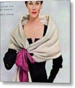 A Vogue Cover Of A Woman Wearing Balenciaga Metal Print