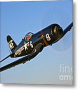 A Vought F4u-5n Corsair Aircraft Metal Print
