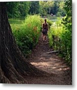 A Walk By The Reservoir Metal Print