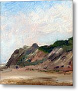 A Walk Down Cahoon Hollow Beach Metal Print