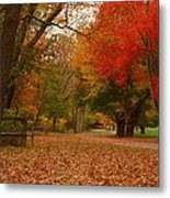 A Walk In Autumn - Holmdel Park Metal Print