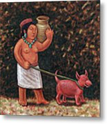 A Walk In Old Colima Metal Print