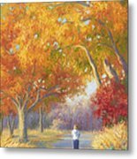 A Walk In The Fall Metal Print by Lucie Bilodeau