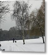 A Walk In The Snow. Metal Print