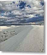 A Walk On The Dunes Metal Print