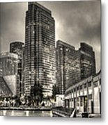 A Walk On The Embarcadero Waterfront Metal Print