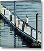 A Walk On The Pier Metal Print
