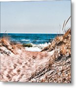 A Walk Out To The Water Metal Print