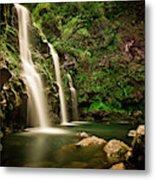 A Waterfall In Hana, Maui Metal Print