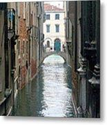 A Waterway Of Venice  Metal Print
