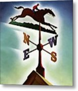 A Weathervane With A Racehorse Metal Print