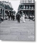 A Wedding In Jackson Square Metal Print
