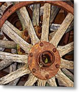 A Wheel In A Wheel Metal Print by Phyllis Denton