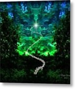 A Whimsical Forest Metal Print