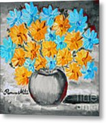 A Whole Bunch Of Daisies Selective Color II Metal Print