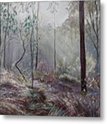 A Wickham Misty Morning Metal Print