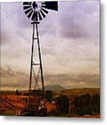 A Windmill And Wagon  Metal Print by Jeff Swan