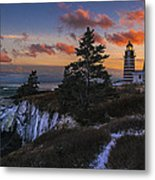 A Winter Dusk At West Quoddy Metal Print