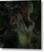 A Winter Muse Plays Silently In The Winter Wonderland Metal Print