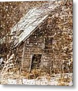 A Winter Shed Metal Print