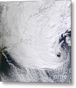 A Winter Storm Over Eastern New England Metal Print