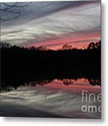 A Christmas Winter Sunset Metal Print