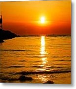 A Winter Sunset In Cape May New Jersey Metal Print