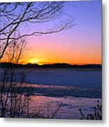 A Winters Horizon Metal Print
