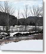 A Wintery Day In Vermont Metal Print
