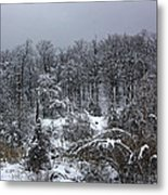 A Wintery View At The United States Military Academy Metal Print