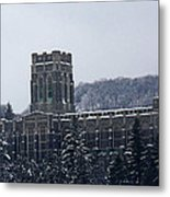 A Wintery View Of The Cadet Chapel At The United States Military Academy Metal Print