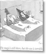 A Wizard And A Witch Lay In Bed Together Metal Print