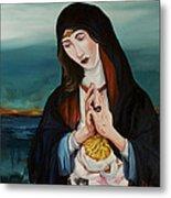 A Woman In Prayer Metal Print by Joseph Demaree