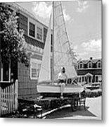 A Woman On Sailboat At Home Metal Print