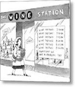 The Wine Station Metal Print