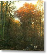 A Woodcutter At Work Metal Print