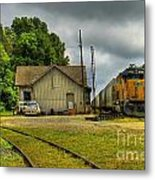 A Workhorse At The Madison Station Metal Print