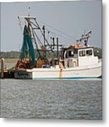 Seadrift Texas Working Boat Metal Print