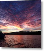 A Wreck Under Tow Metal Print by Christine Burdine