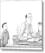A Young Boy Complains About What's For Dinner Metal Print by Harry Bliss
