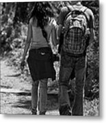 A Young Couple Metal Print