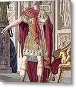 A Young Emperor In His Imperial Armour Metal Print