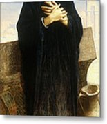 A Young Fellah Girl Metal Print by William Adolphe Bouguereau