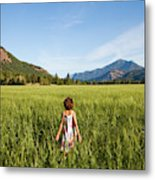 A Young Girl, Daughter Of A Farmer Metal Print
