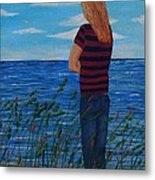 A Young Girl Dreaming Metal Print