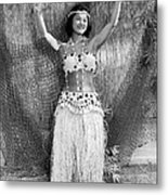 A Young Hawaiian Hula Woman Metal Print