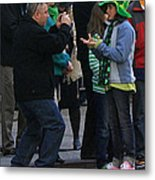 A Young Lady Posing During The 2009 New York St. Patrick Day Parade Metal Print