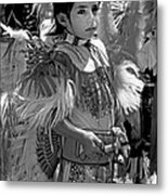 A Young Warrior - B W Metal Print